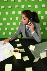 girl in office