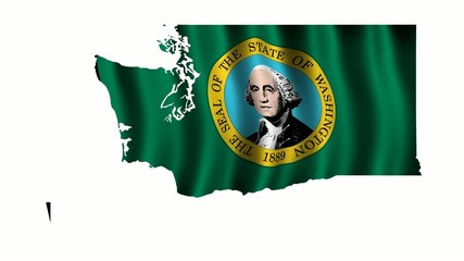 Washington Flag as the territory Map