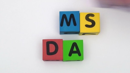 Alphabet blocks spell out MOM'S DAY - HD