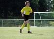 Fussballspieler beim Warmlaufen