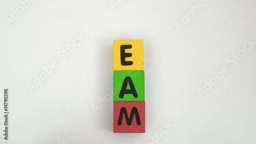 Alphabet blocks spell out TEAM series - HD