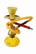 Yellow Hookah on a white background