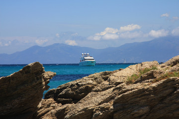 yacht in corse