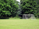 Goalpost on an amateur football pitch