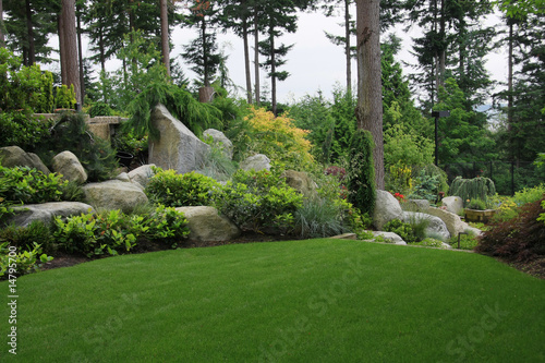 Staande foto Tuin Summer garden