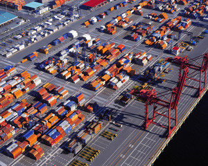 container in dock