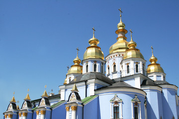 Cupolas of church (Saint Mikhail Monastery Kiev, Ukraine)