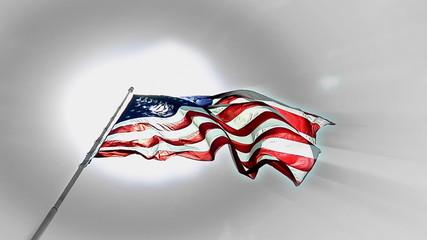 Flag Sun Up