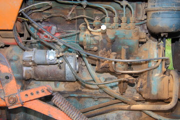 motore di un trattore