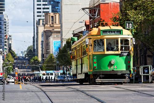 Foto op Plexiglas Australië Strassenbahn in Melbourne