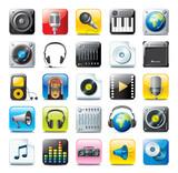Fototapety multimedia icons - audio set