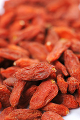 Chinese herbs dried wolfberry  macro close up