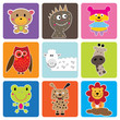 roleta: Cute Animals Greeting Sticker