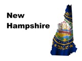 New Hampshire Flag as the territory Map