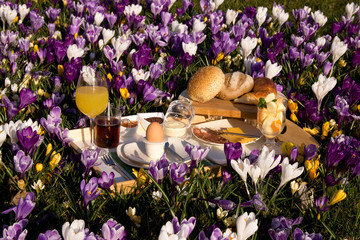 Easter breakfast outside