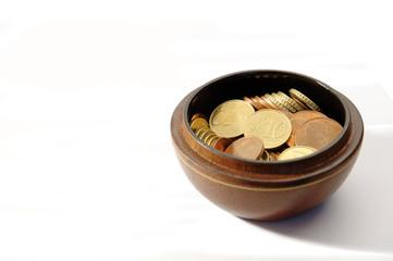 bol avec argent