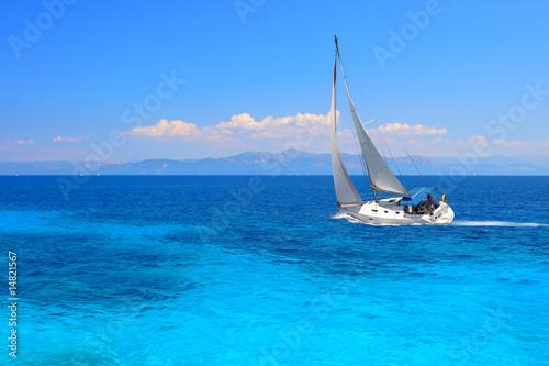 Fotobehang Jacht Sailing yacht