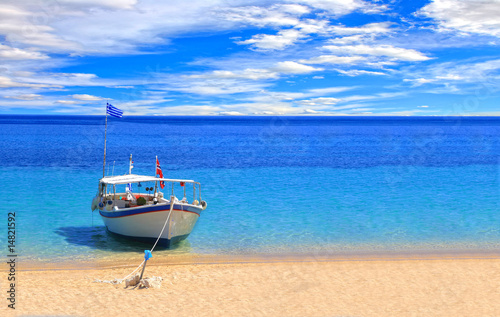 canvas print picture Fishing boat
