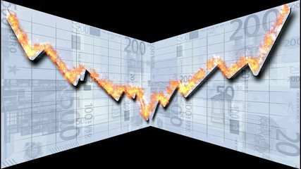 brennende Börsenkurve