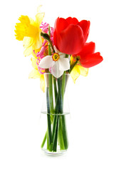 Spring bouquet isolated on white background