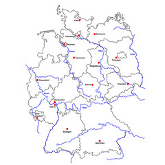 Deutschlandkarte 02