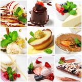 Fototapety Dessert Collage