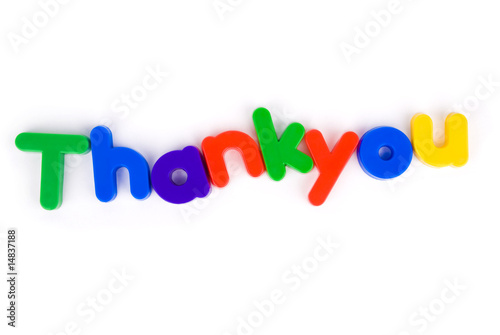 Thankyou colourful lettering