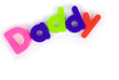 Daddy colourful lettering