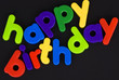 Happy Birthday colourful lettering