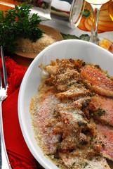 Triglie al forno e acciughe - Secondi di pesce della toscana