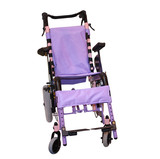 A Purple Coloured Wheelchair for a Disabled Person. poster