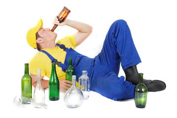 drunk worker