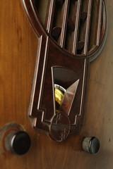 Old Radio Reciever Closeup