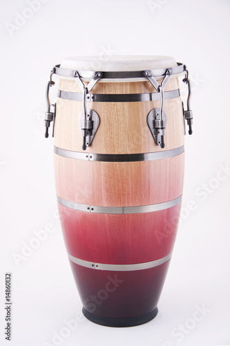 Leinwanddruck Bild African Conga Drum Isolated On White