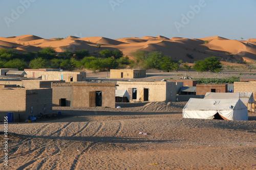 Touareg village in the Sahara