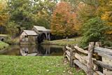 Fototapeta Virginia's Mabry Mill on the Blue Ridge Parkway in Autumn