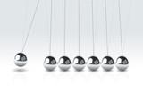vector  illustration balancing balls Newton's cradle