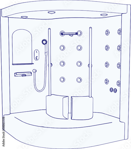 SPA Shower Vector 01