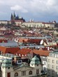 View over the rooftops to Prague Castle