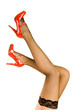Quadro Womens Legs and Red Shoes