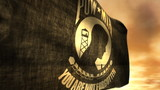 (1096) POW MIA Flag with Sunset