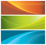 modern, colorful banners (headers) poster