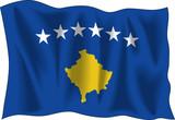 Flag of Kosovo in Vectors poster