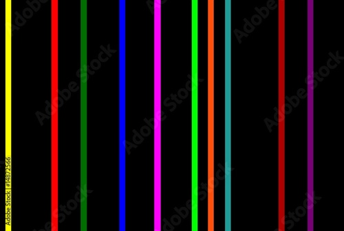 Poster Stripes. colorful stripes with black background