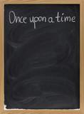 storytelling opening phrase on blackboard poster