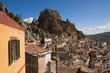 View of houses rocky of village in Sicily