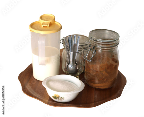 Smoko Tray isolated with clipping path.