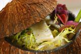 creative cocos nut salad poster