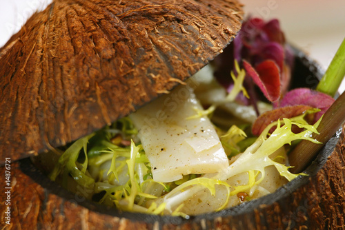 poster of creative cocos nut salad