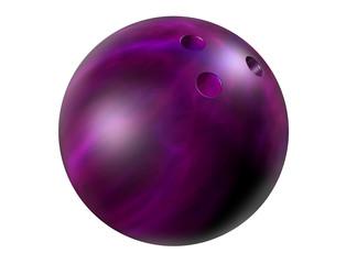 Purple bowling ball